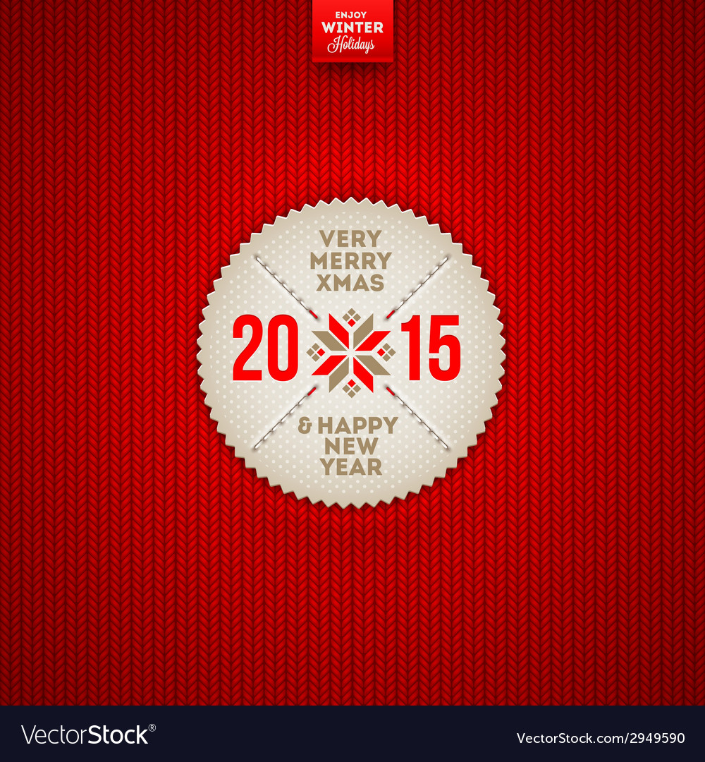 Christmas and new year greeting label vector | Price: 1 Credit (USD $1)