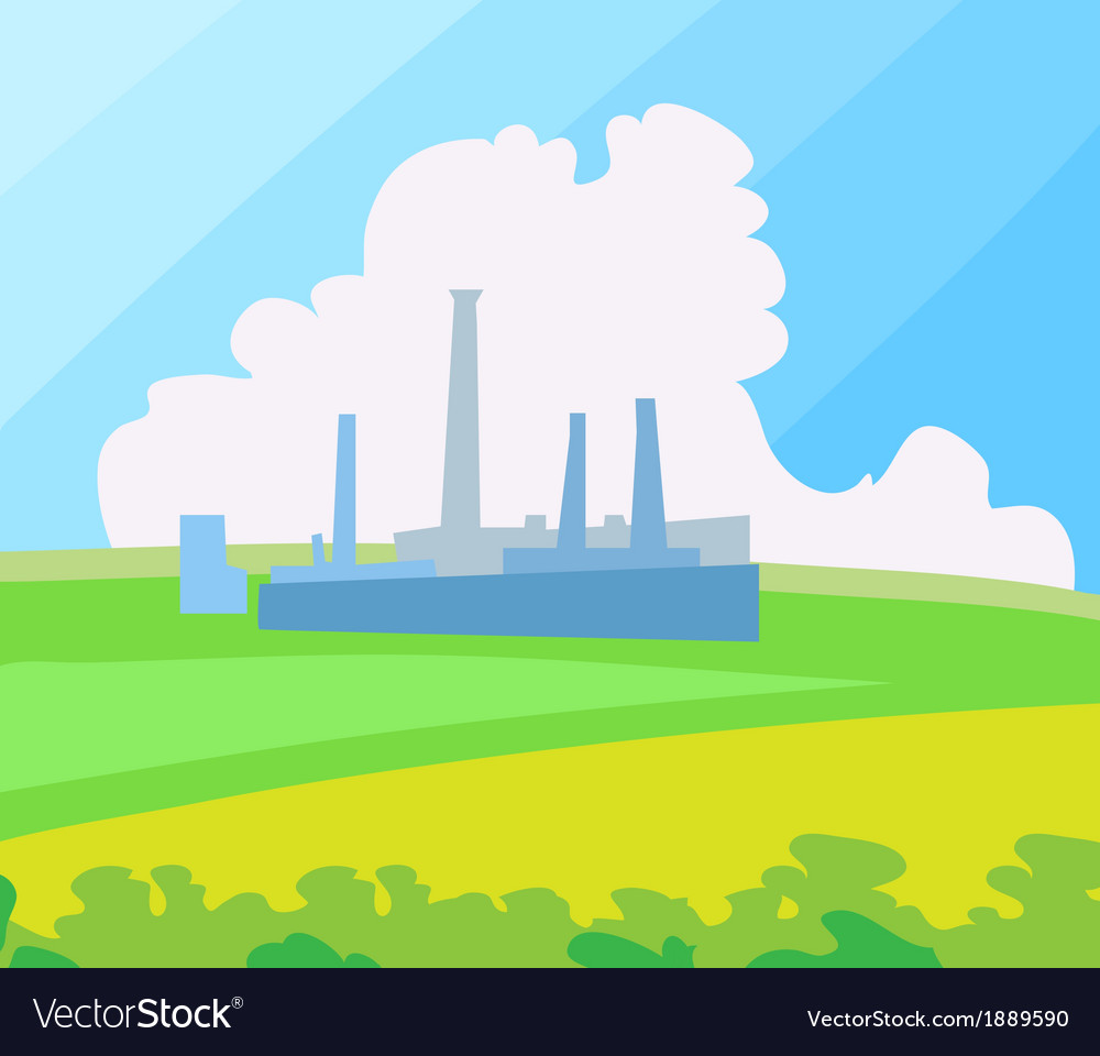 Factory landscape vector | Price: 1 Credit (USD $1)