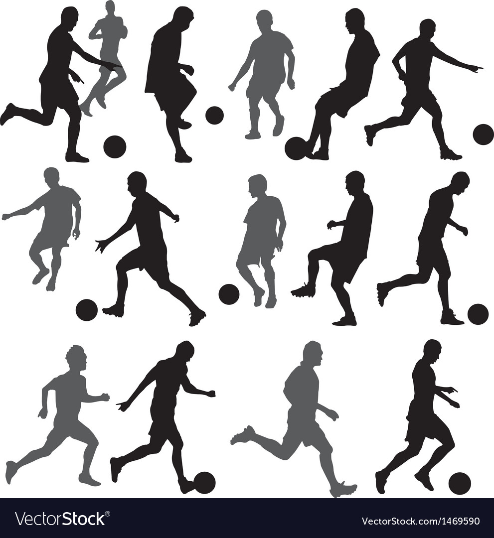 Football silhouette vector   Price: 1 Credit (USD $1)