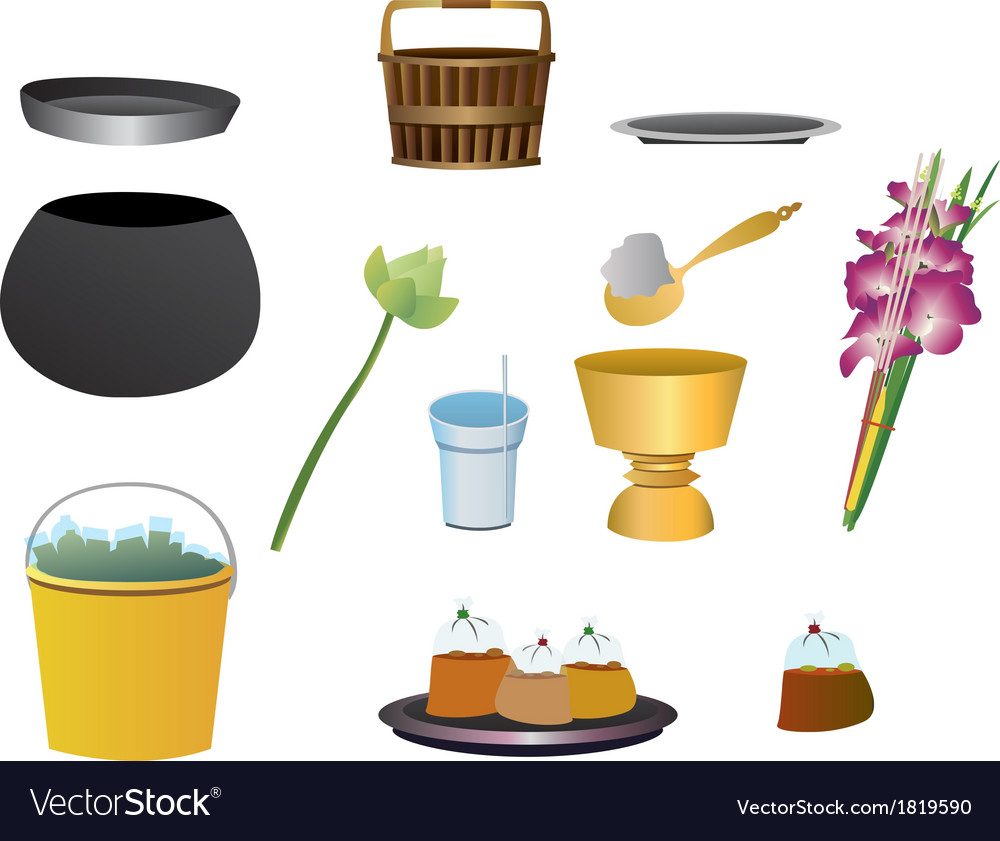 Item offer food to monk vector | Price: 1 Credit (USD $1)