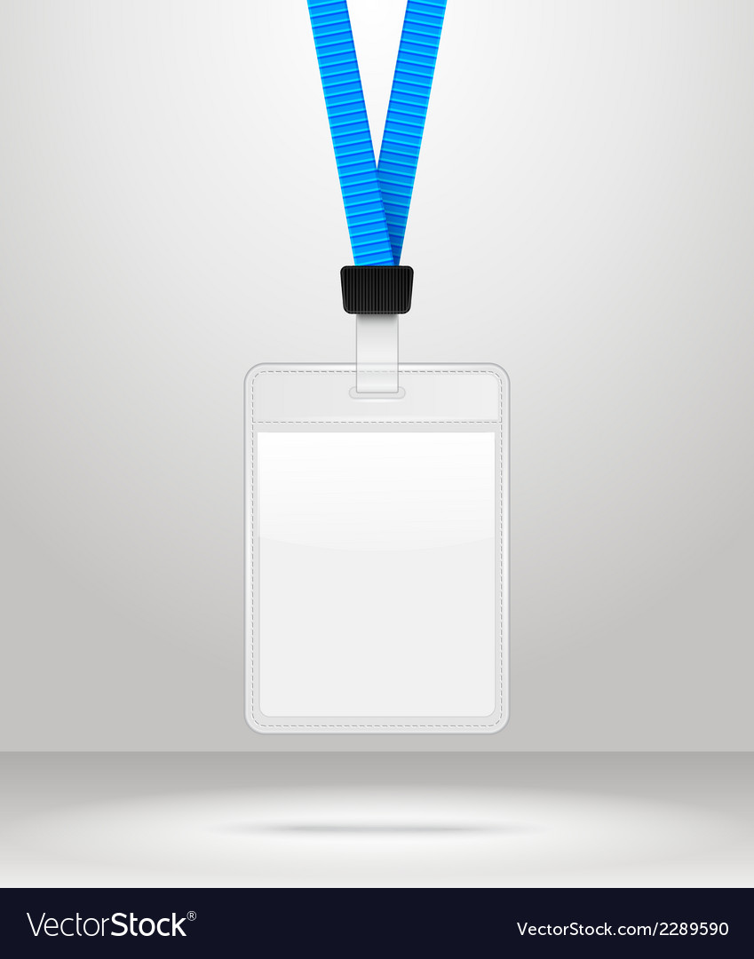 Lanyard with tag badge holder vector | Price: 1 Credit (USD $1)
