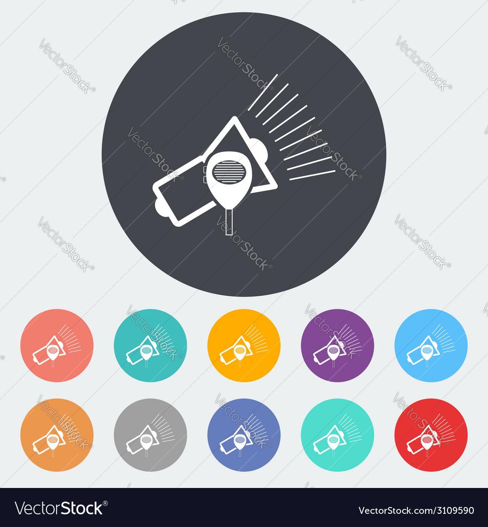 Megaphone single icon vector | Price: 1 Credit (USD $1)