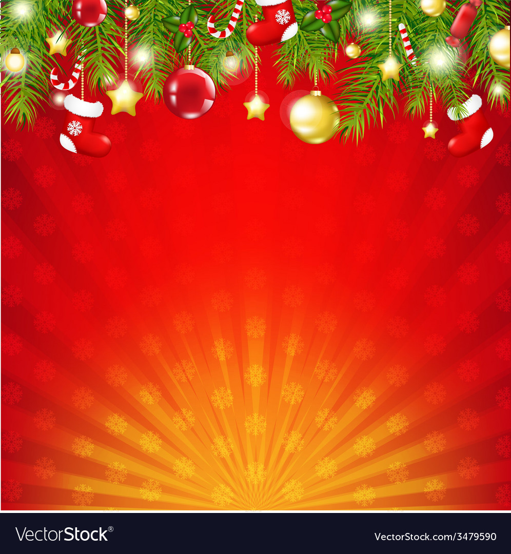 Red christmas sunburst card vector | Price: 1 Credit (USD $1)