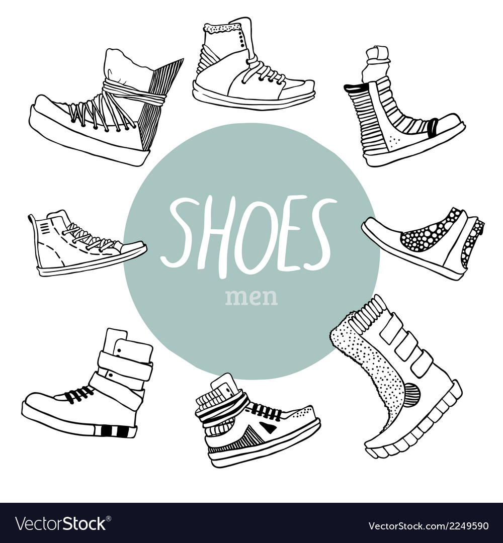 Set with mens shoes vector | Price: 1 Credit (USD $1)