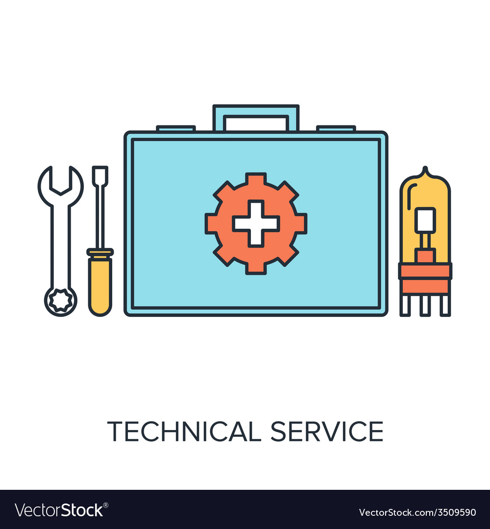 Technical service vector | Price: 1 Credit (USD $1)