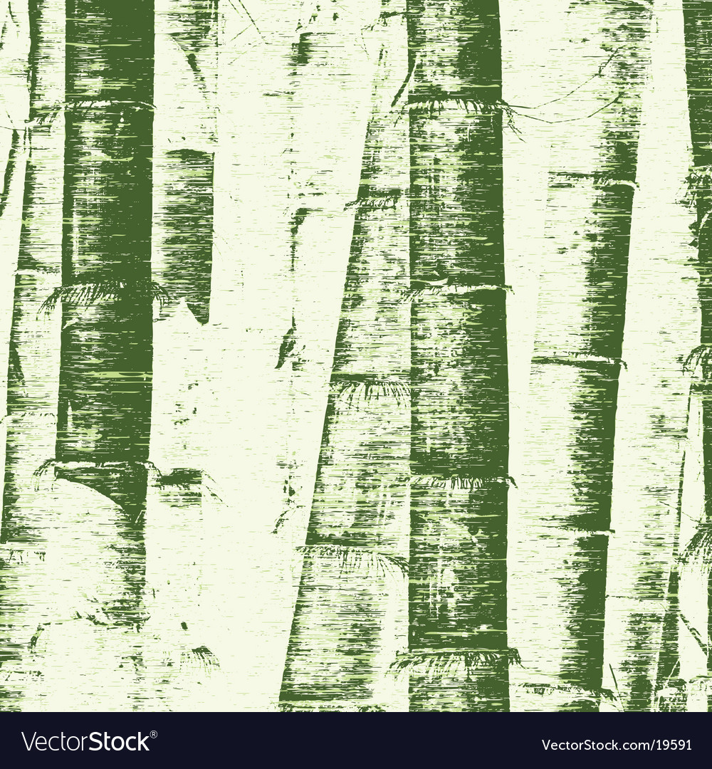 Bamboo grunge vector