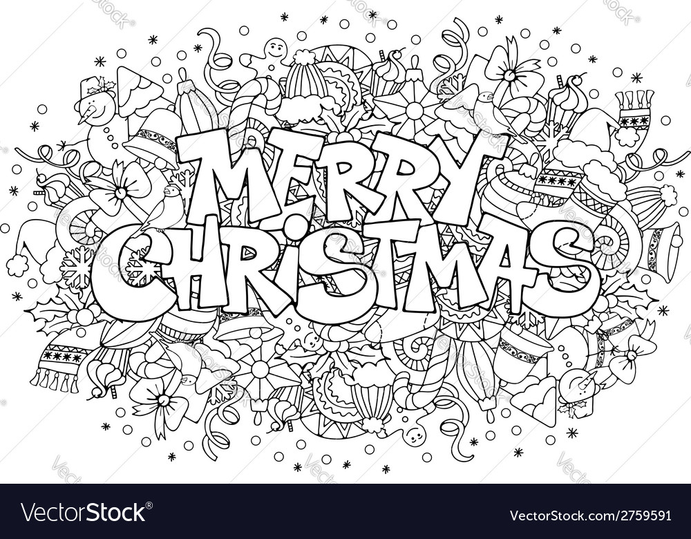 Christmas doodle vector | Price: 1 Credit (USD $1)