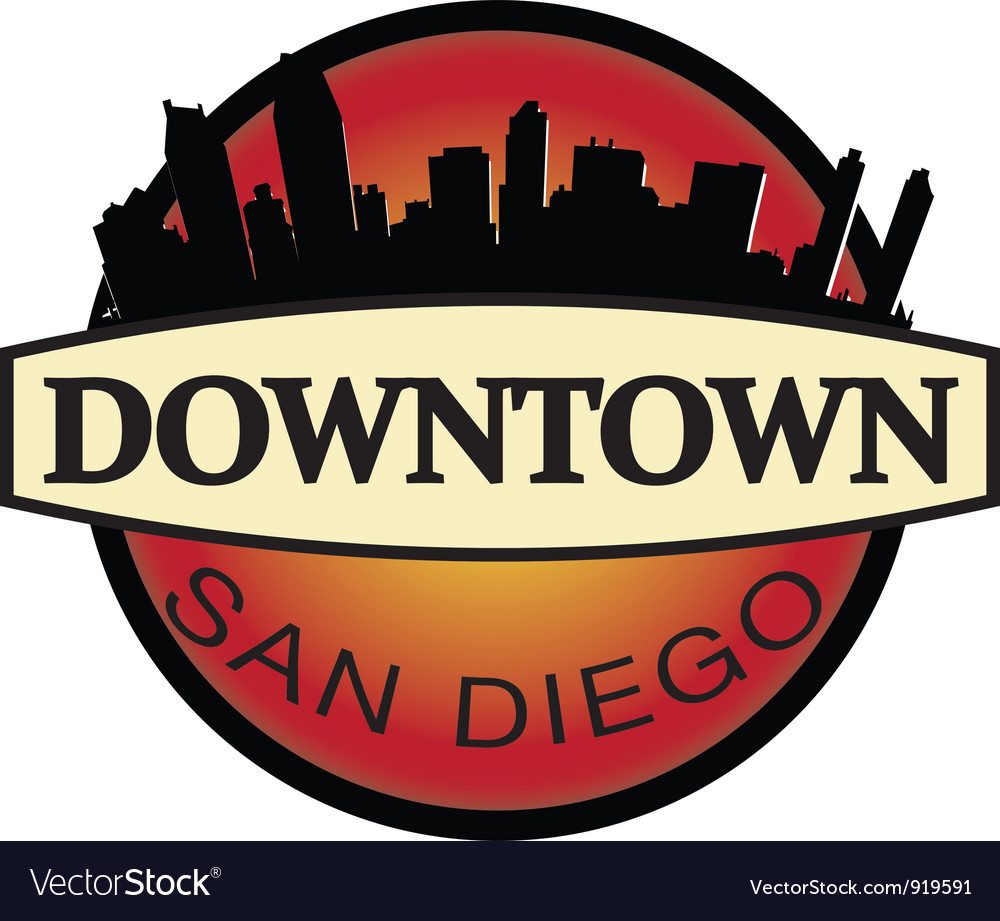 Downtown san diego emblem vector | Price: 1 Credit (USD $1)