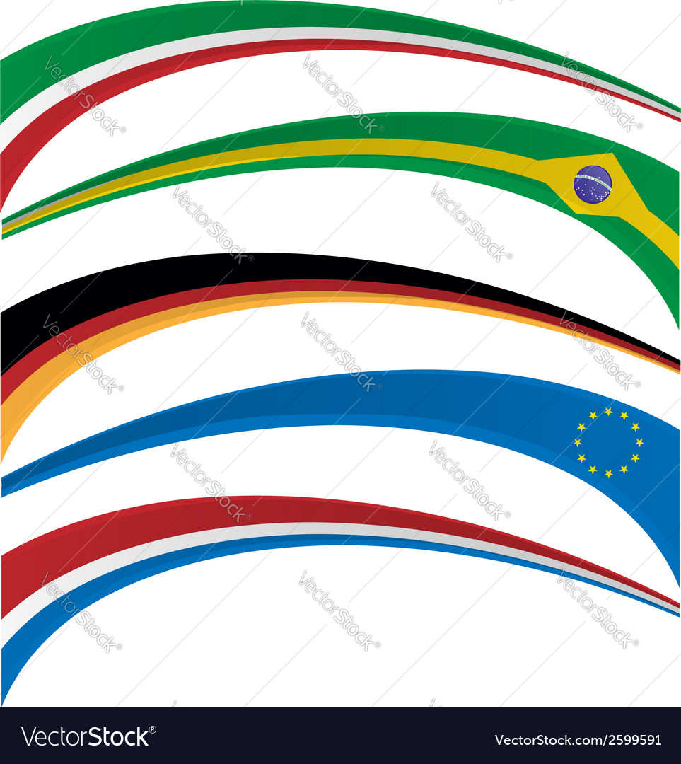 Flag set vector | Price: 1 Credit (USD $1)