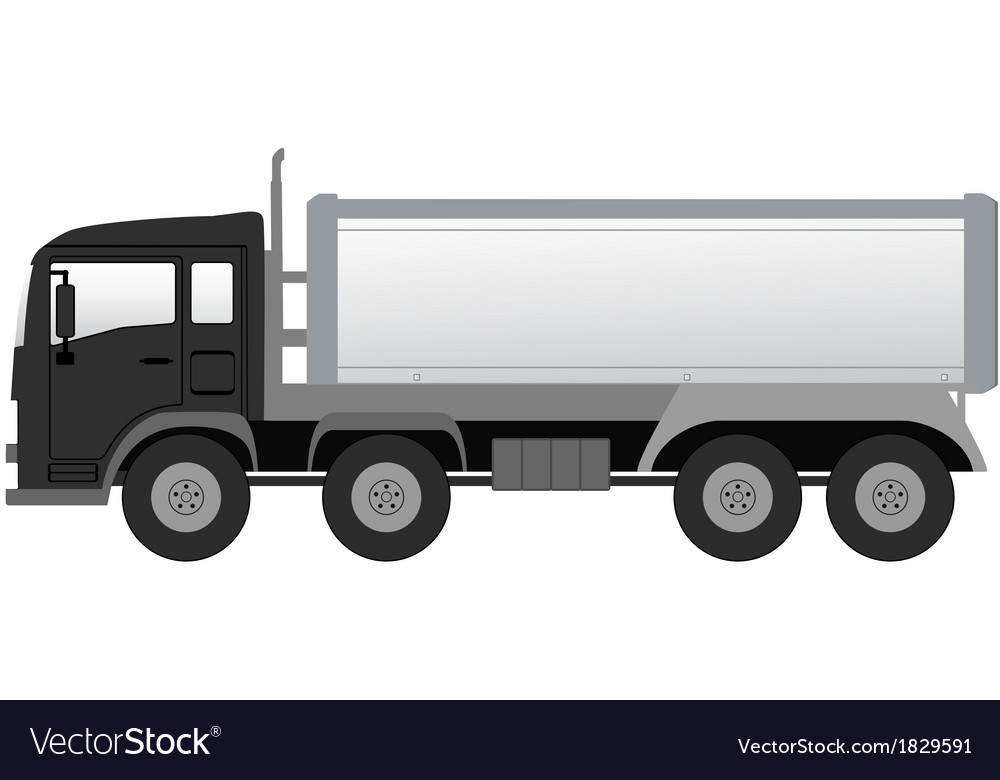 Isolated truck with black cabin vector | Price: 1 Credit (USD $1)