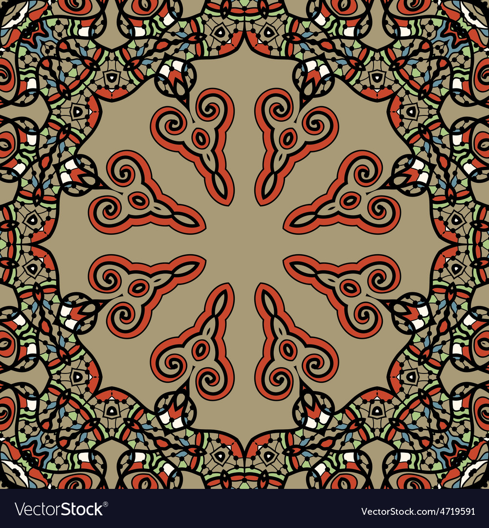 Mandala  vintage tribal design flyer motif vector   Price: 1 Credit (USD $1)