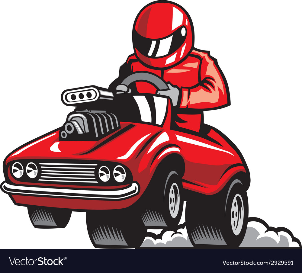 Muscle car racing vector | Price: 3 Credit (USD $3)