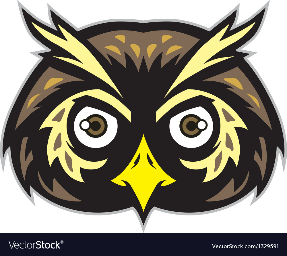 Owl head mascot vector | Price: 3 Credit (USD $3)