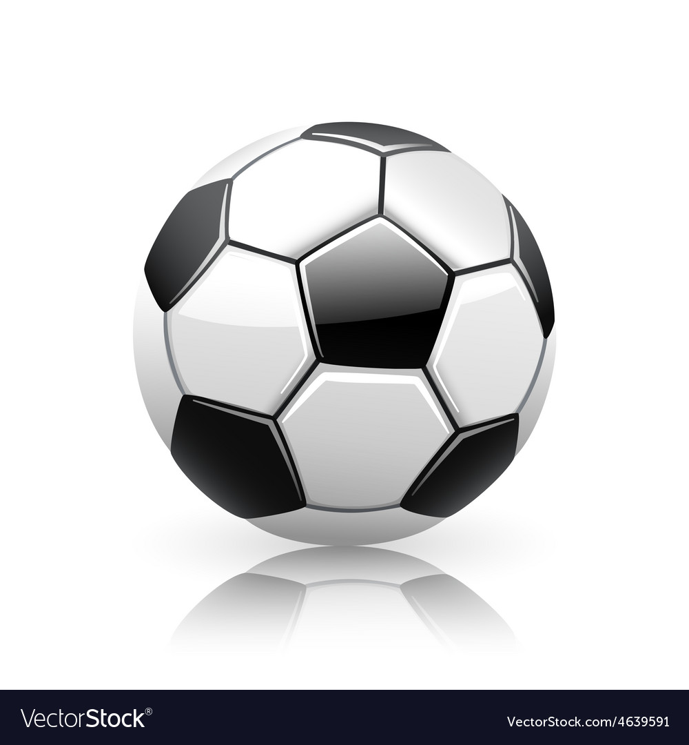 Realistic soccer ball vector | Price: 1 Credit (USD $1)