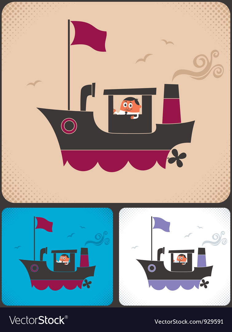 Ship captain vector | Price: 3 Credit (USD $3)