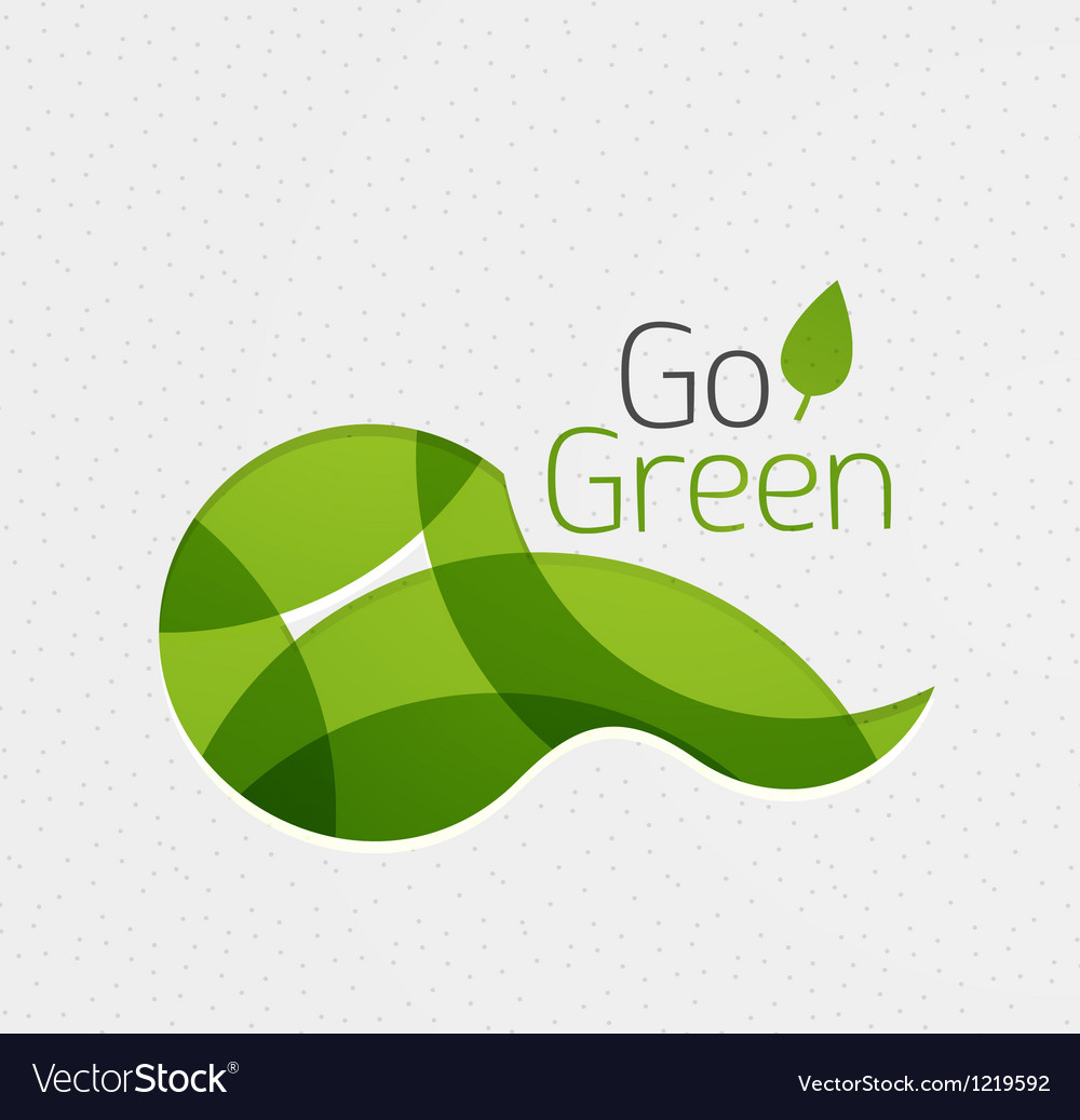 Abstract eco green shape vector | Price: 1 Credit (USD $1)