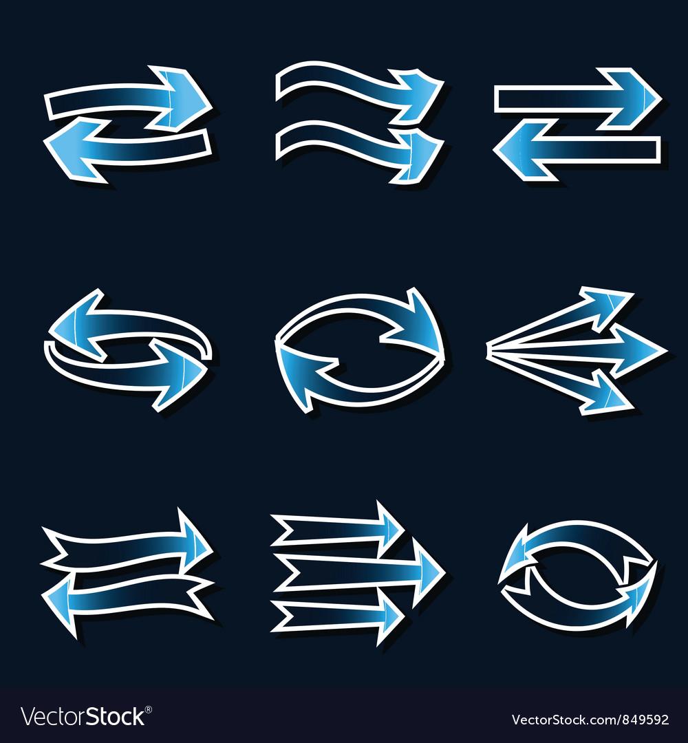 Blue arrows vector | Price: 1 Credit (USD $1)