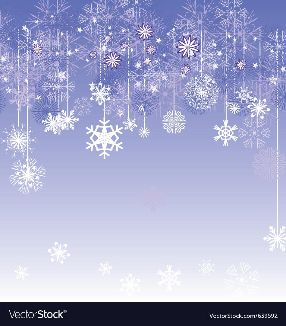 Christmas snowflake card vector | Price: 1 Credit (USD $1)