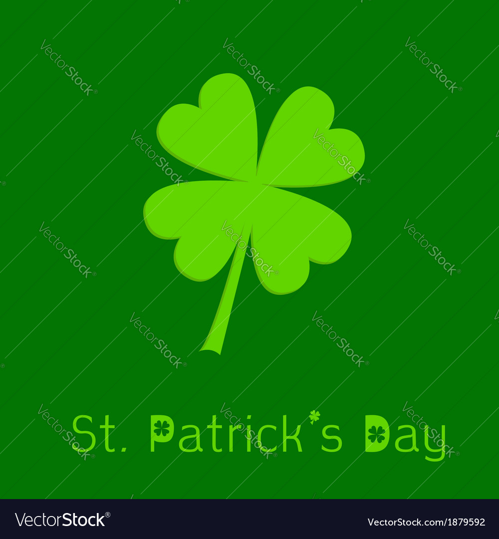 Clover leaf 3d effect st patricks day vector | Price: 1 Credit (USD $1)