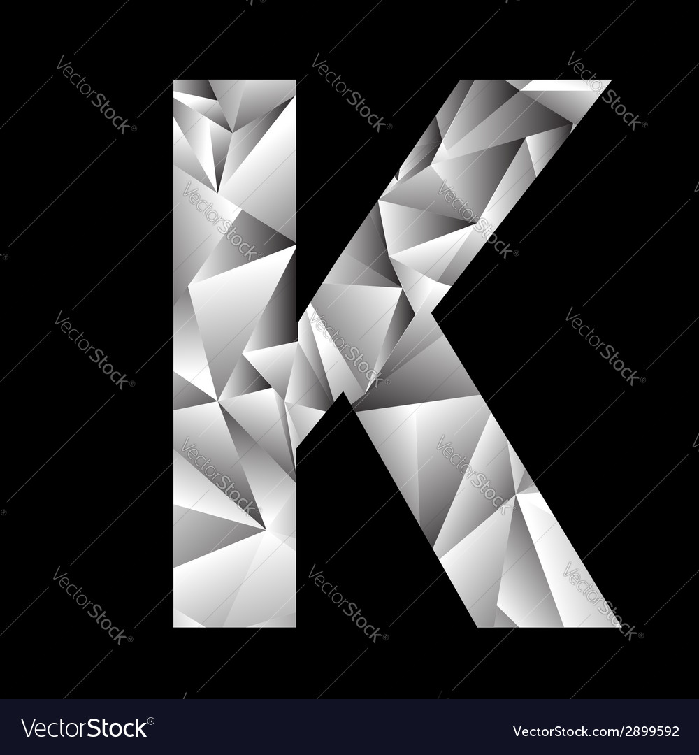 Crystal letter k vector | Price: 1 Credit (USD $1)