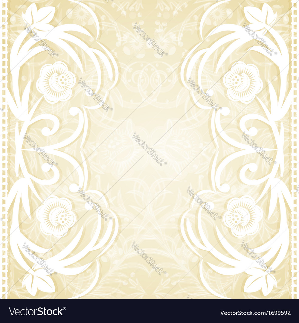 Delicate lace wedding invitation vector | Price: 1 Credit (USD $1)