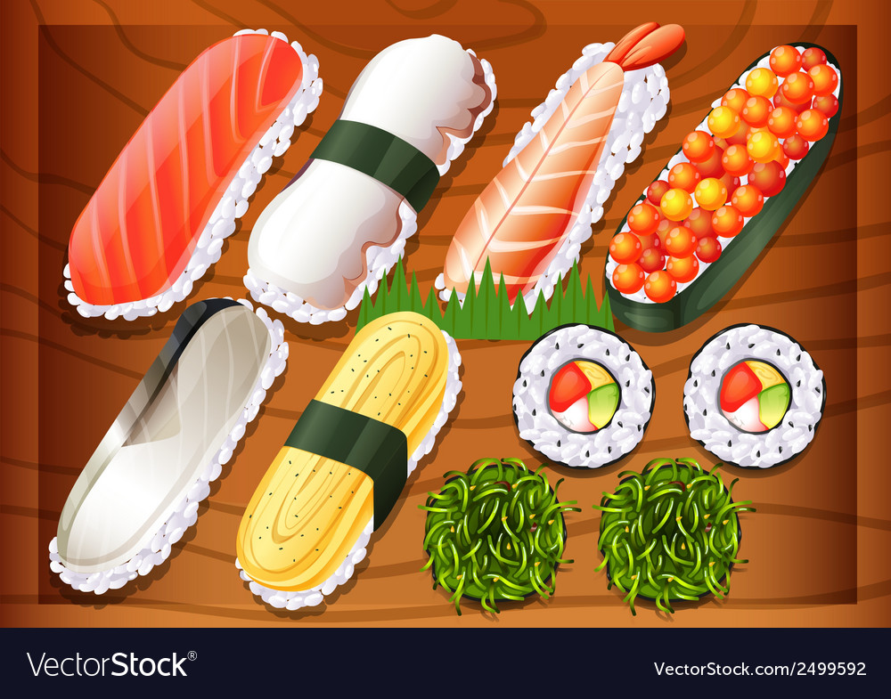 Different flavors of sushi vector | Price: 1 Credit (USD $1)