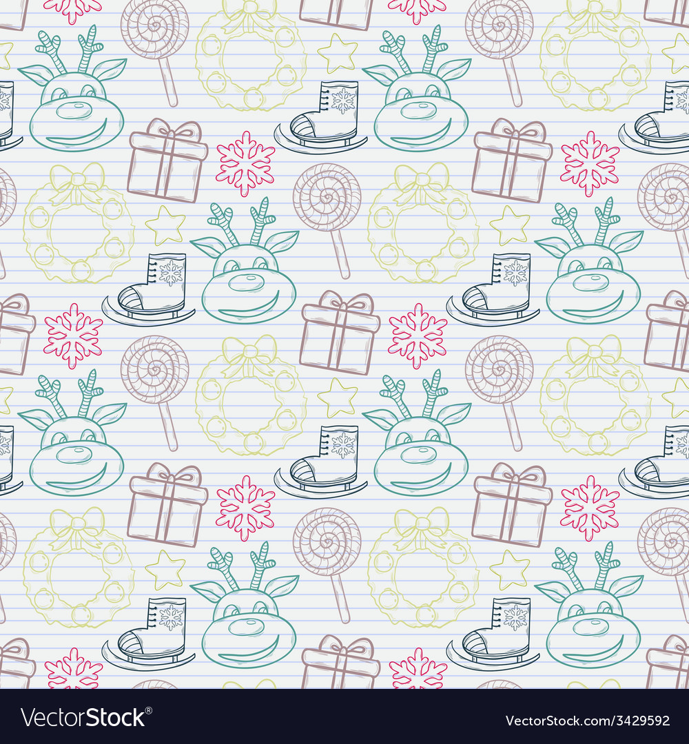 Ector abstract seamless christmas pattern vector   Price: 1 Credit (USD $1)