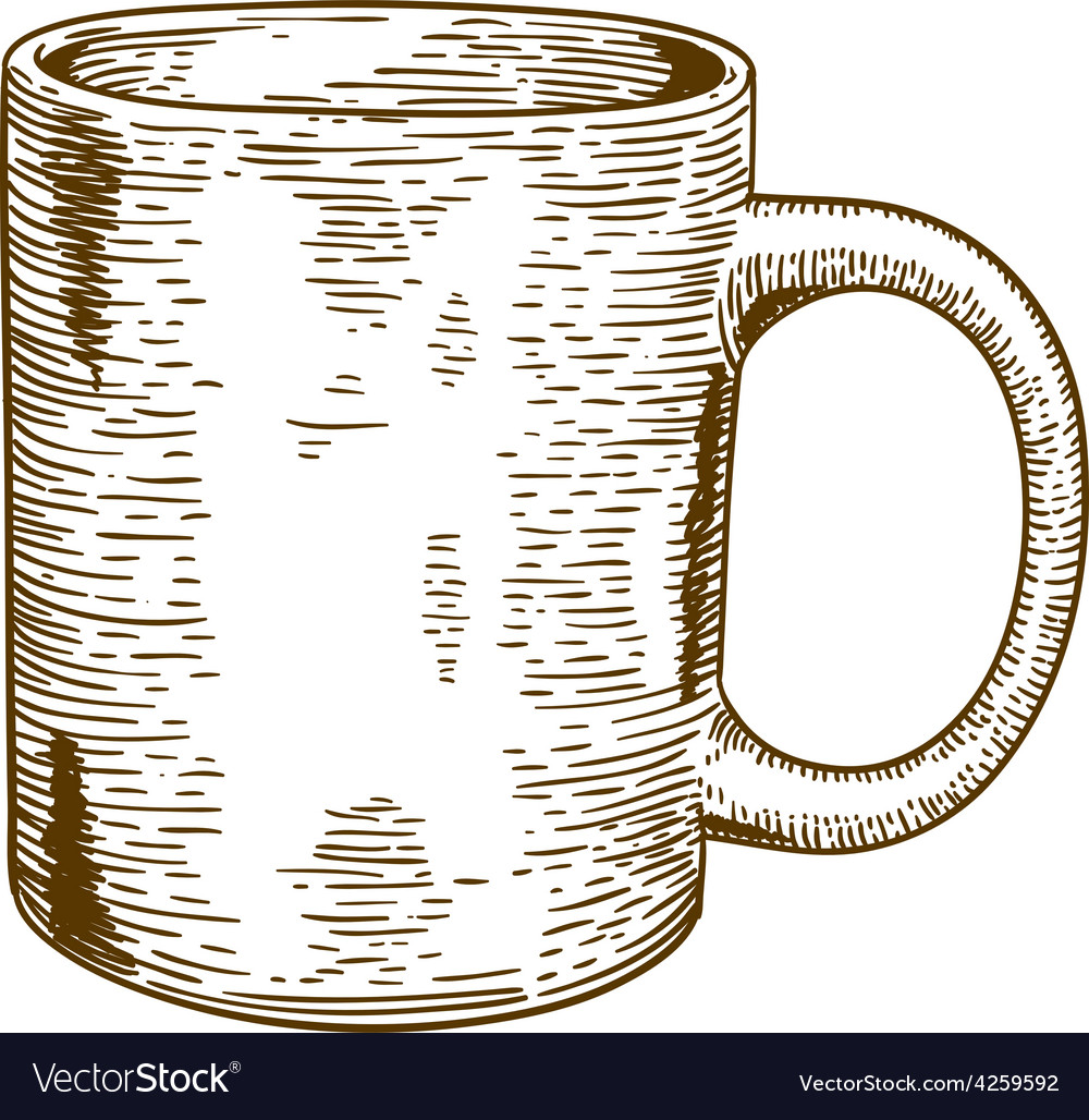 Engraving mug vector | Price: 1 Credit (USD $1)