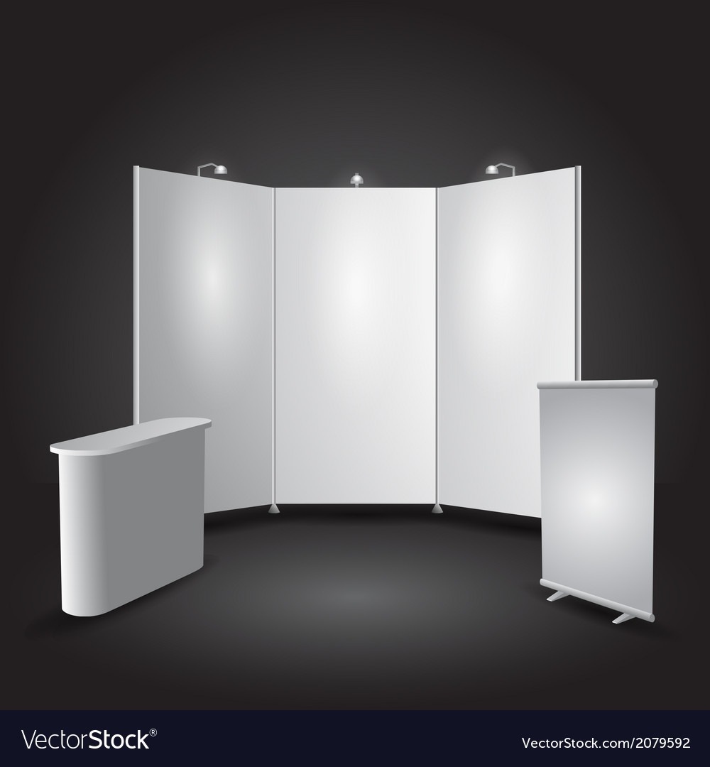 Expo stand exhibit vector | Price: 1 Credit (USD $1)