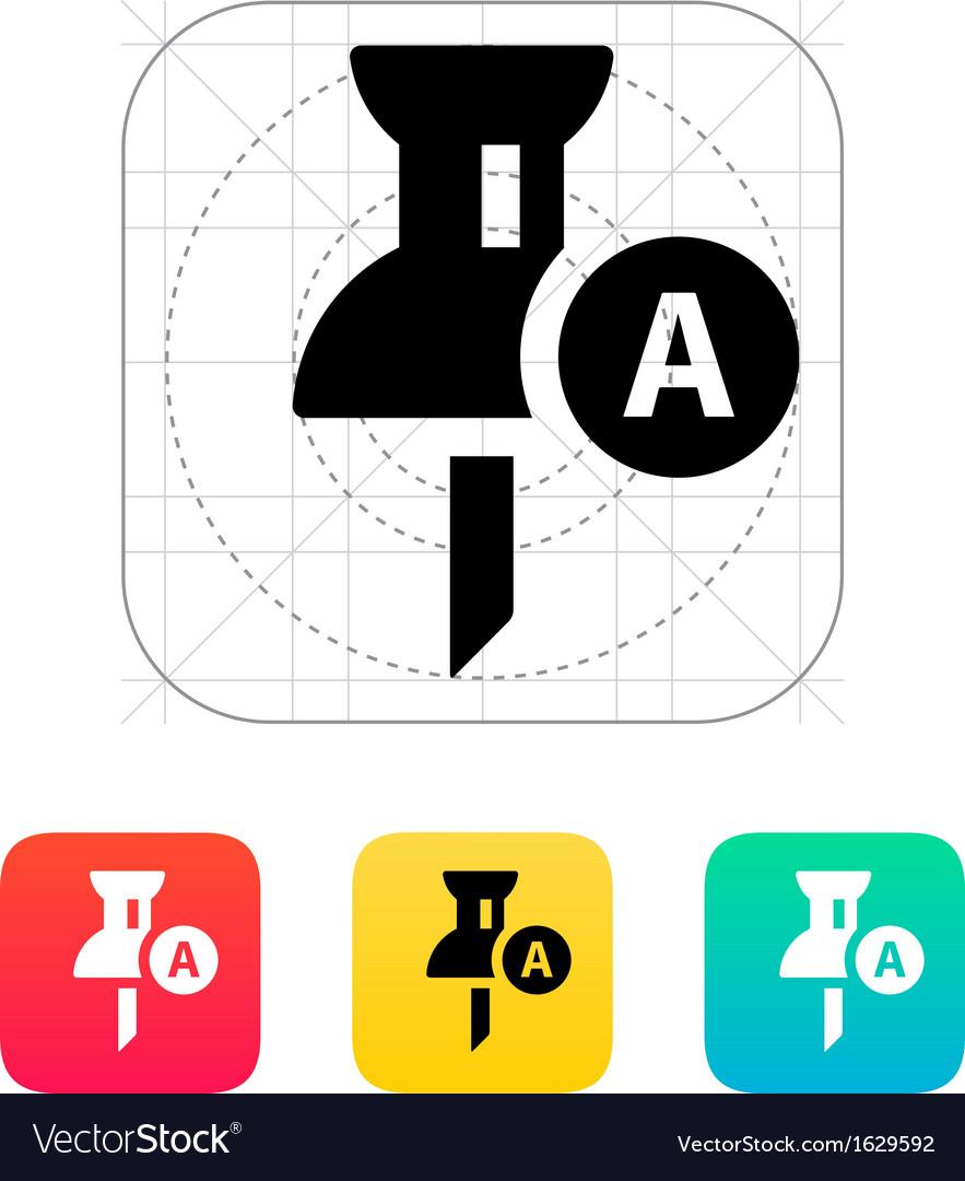 Geo tag pin icon vector | Price: 1 Credit (USD $1)