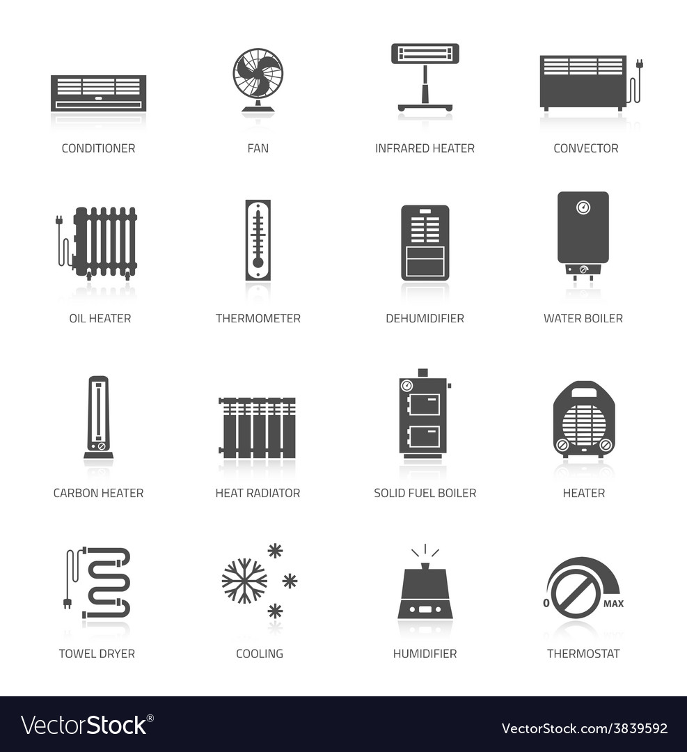 Heating icons vector | Price: 1 Credit (USD $1)