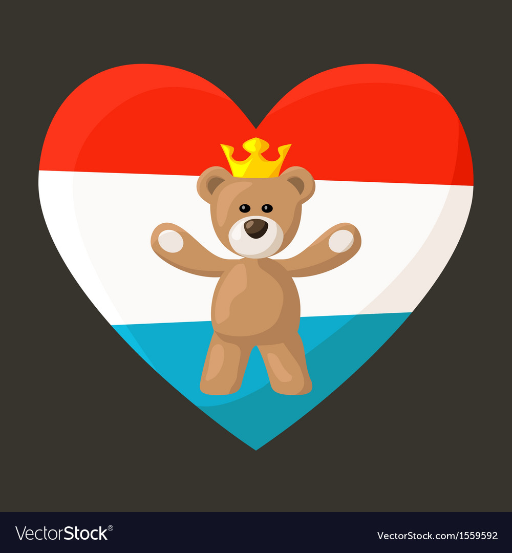 Luxembourg royal teddy bear vector | Price: 1 Credit (USD $1)