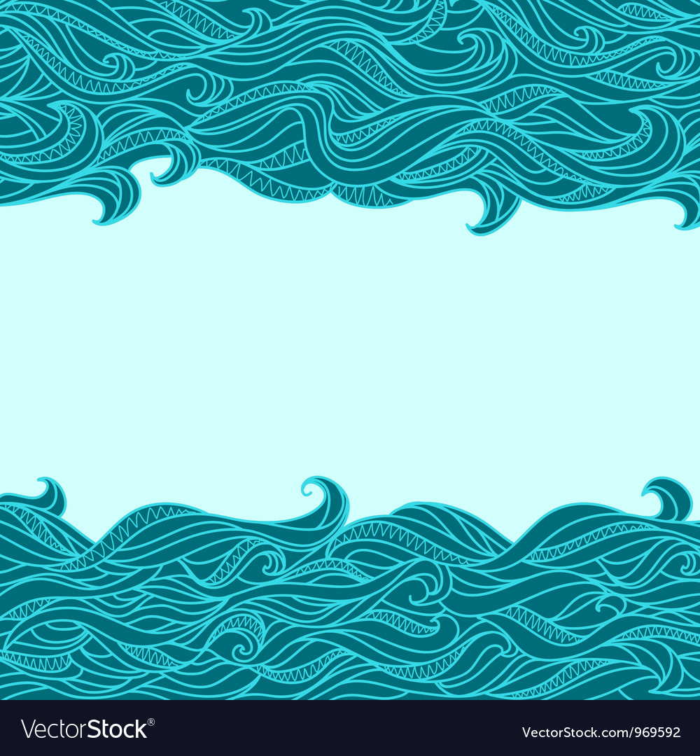 Seamless abstract waves vector | Price: 1 Credit (USD $1)
