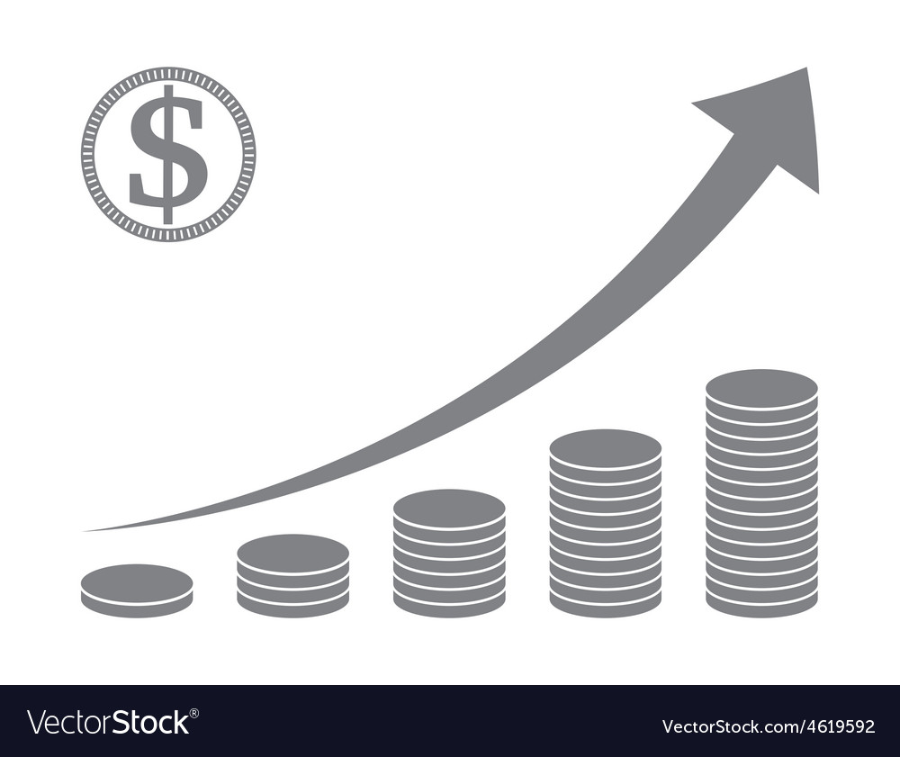 Stacked coin graph vector | Price: 1 Credit (USD $1)