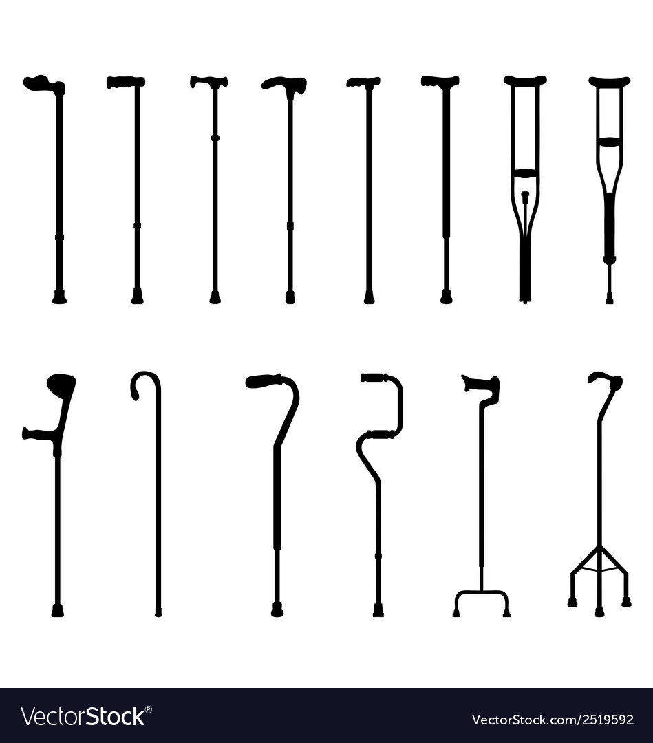 Sticks and crutches 2 vector | Price: 1 Credit (USD $1)