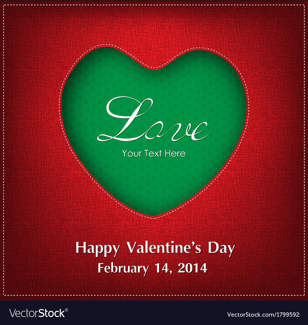 Valentine day card background vector | Price: 1 Credit (USD $1)