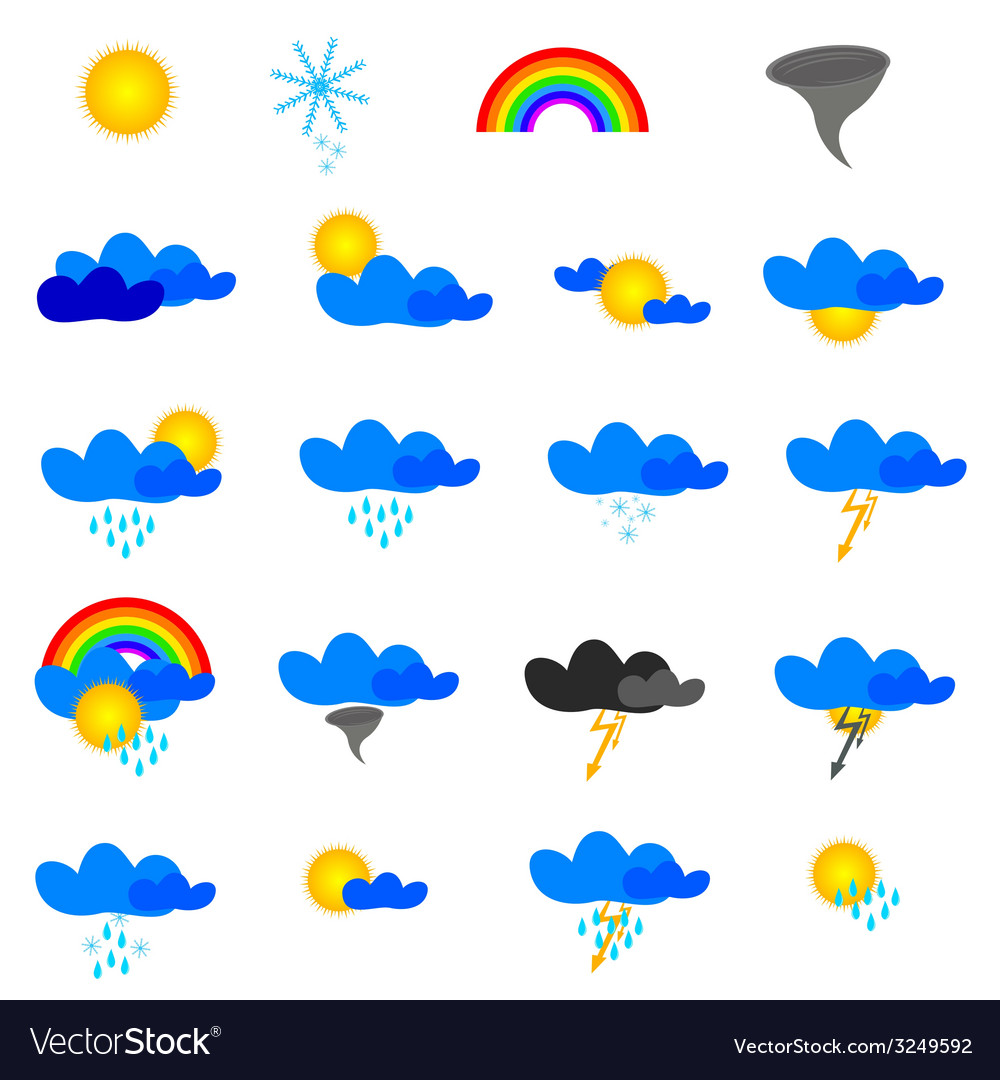 Weather symbol vector | Price: 1 Credit (USD $1)