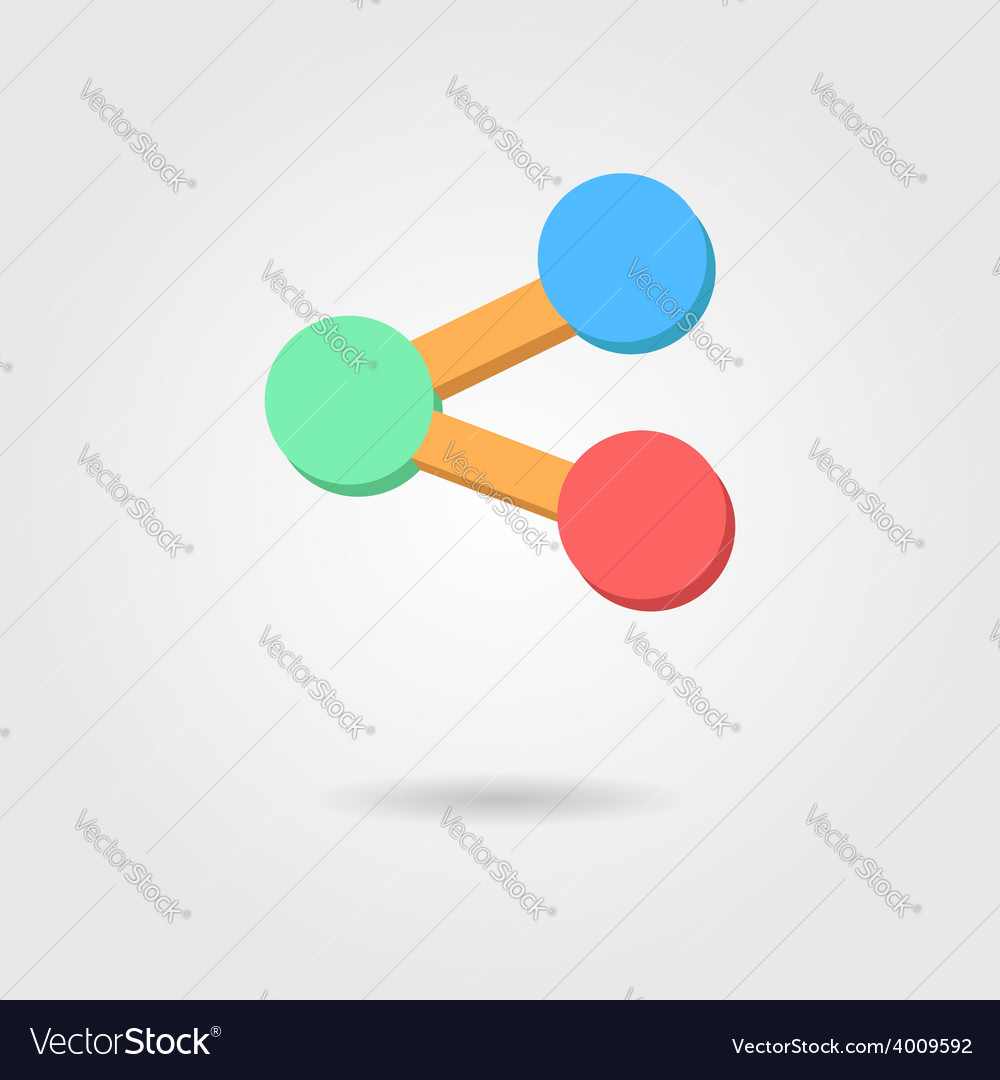 Web share icon with shadow vector | Price: 1 Credit (USD $1)