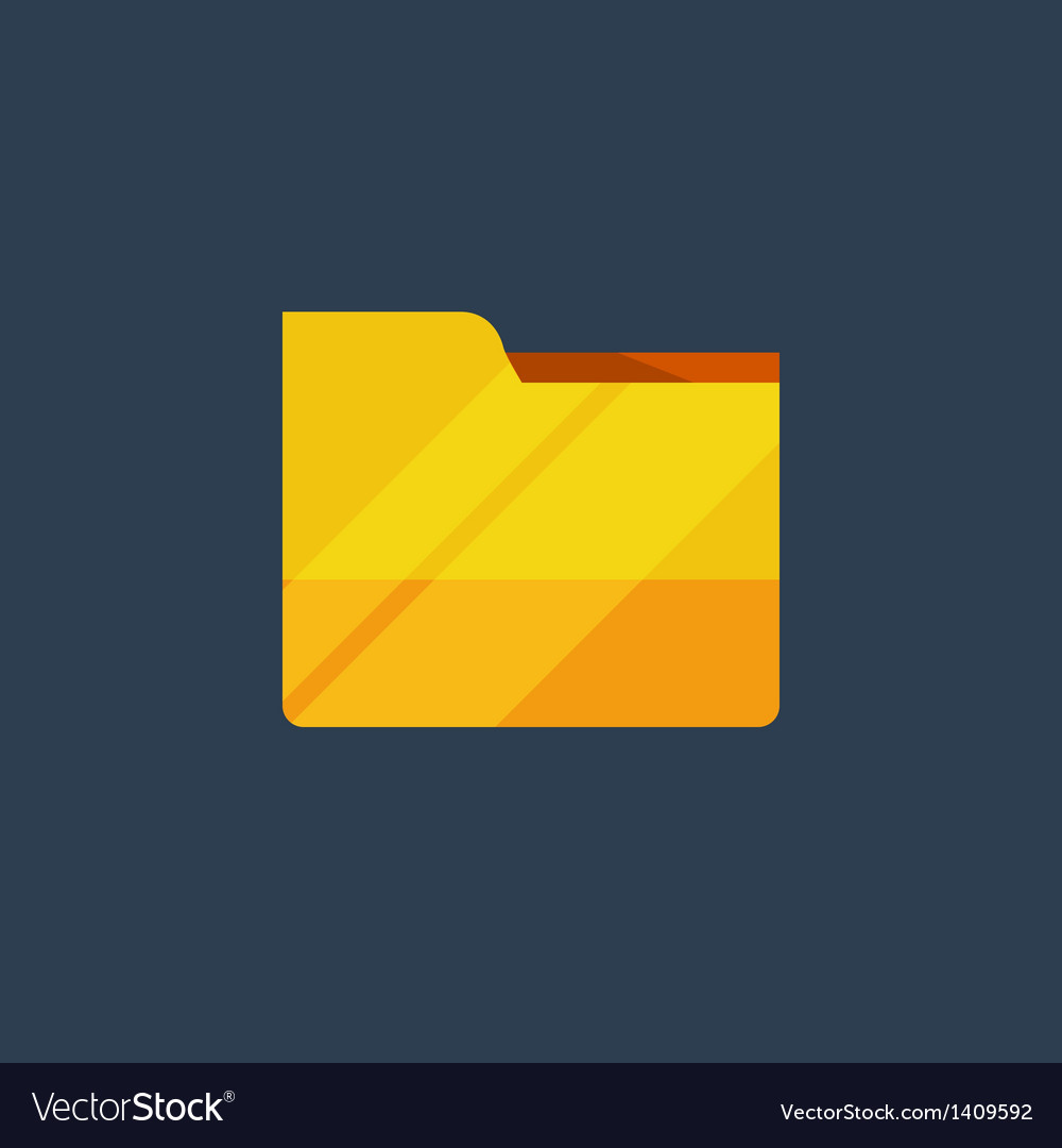 Yellow folder vector | Price: 1 Credit (USD $1)