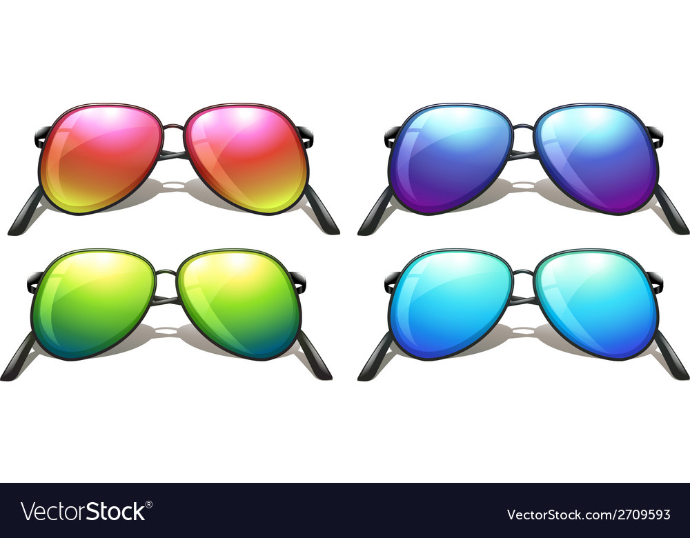 Coloured sunglasses vector | Price: 1 Credit (USD $1)