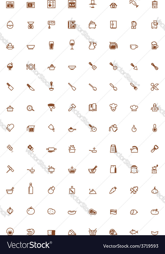 Cooking icon set vector | Price: 1 Credit (USD $1)