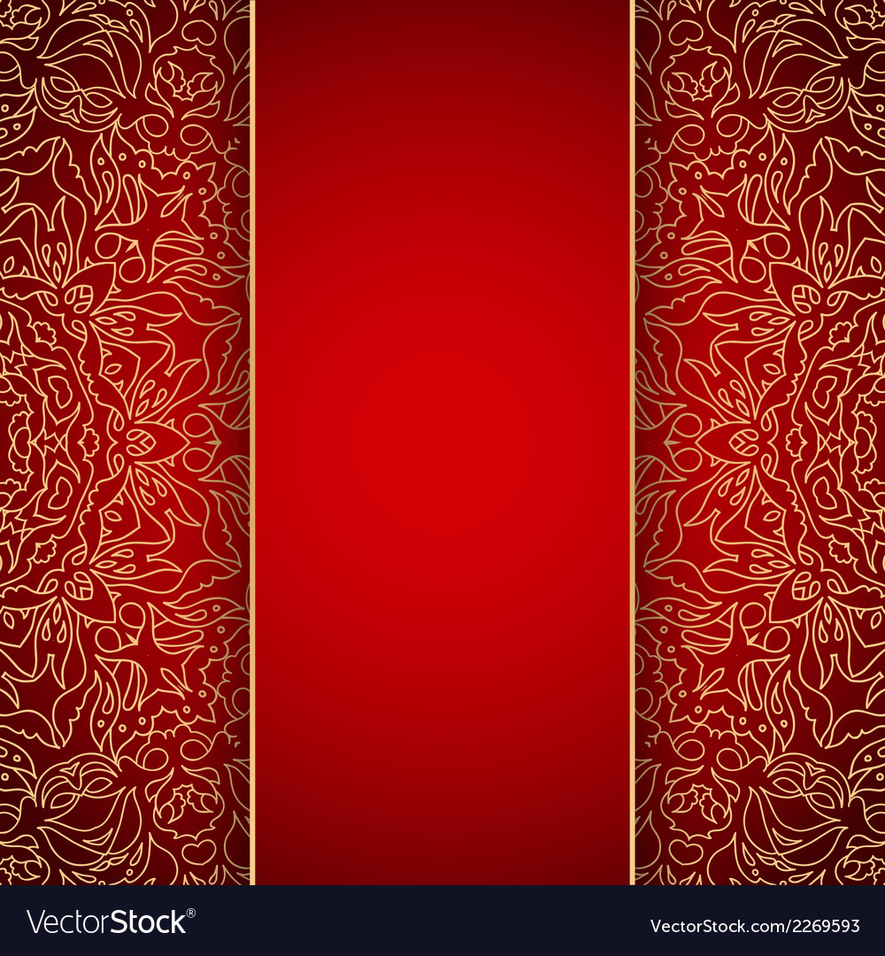 Elegant background with gold lace ornament vector | Price: 1 Credit (USD $1)