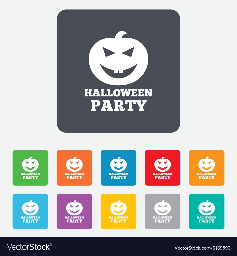 Halloween pumpkin sign icon halloween party vector   Price: 1 Credit (USD $1)
