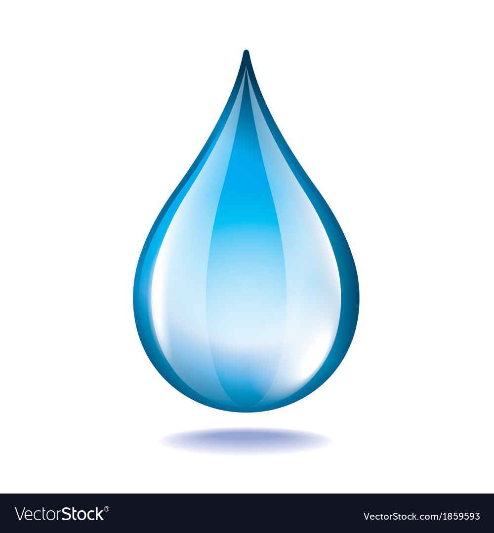 Object water drop vector | Price: 1 Credit (USD $1)