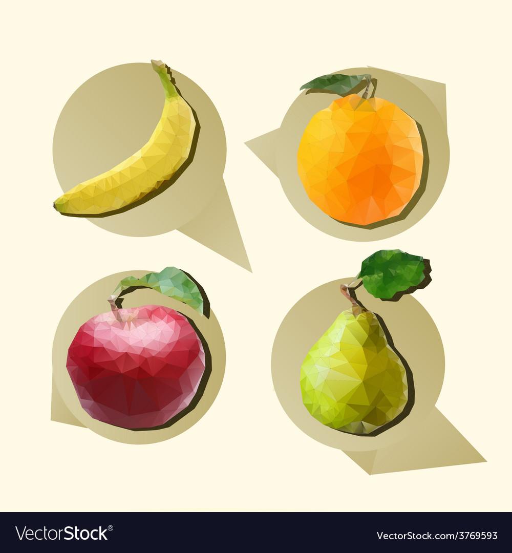 Polygonal fruit vector | Price: 1 Credit (USD $1)