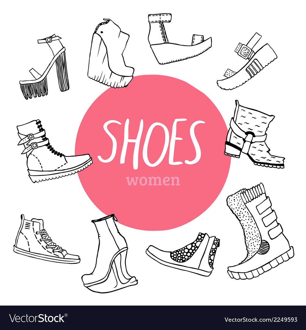 Set with womens shoes vector | Price: 1 Credit (USD $1)