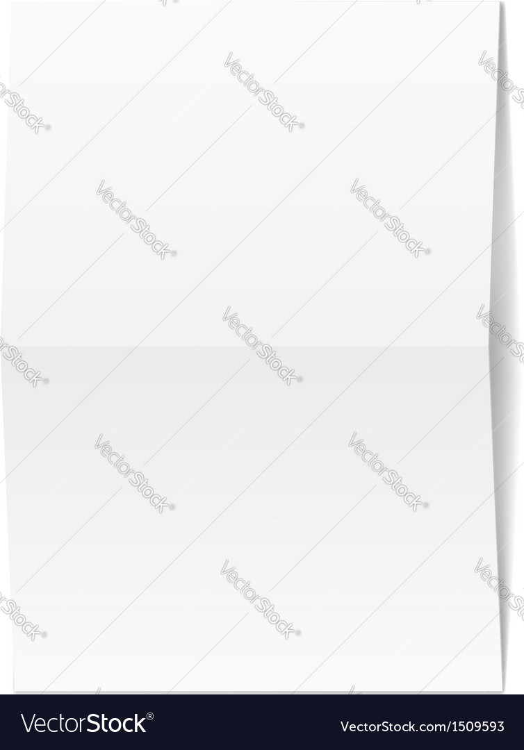 White blank paper vector | Price: 1 Credit (USD $1)