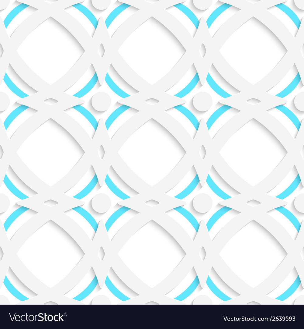 White rhombuses and blue ornament vector | Price: 1 Credit (USD $1)