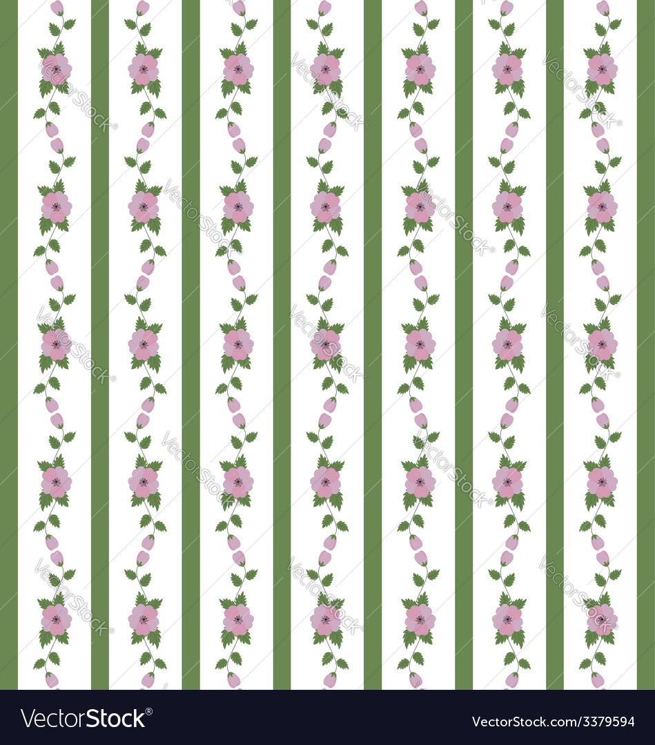 Abstract floral pattern of ribbons vector | Price: 1 Credit (USD $1)