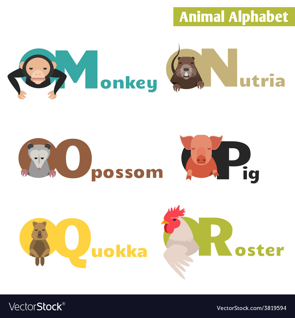 Animal alphabet vector | Price: 1 Credit (USD $1)